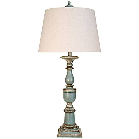 Avignon Blue Candlestick Table Lamp