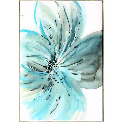 "A Grand Bloom 35"" High Framed Wall Art"