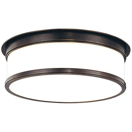 "Hudson Valley Geneva 15 1/4"" Wide Bronze Ceiling Light"