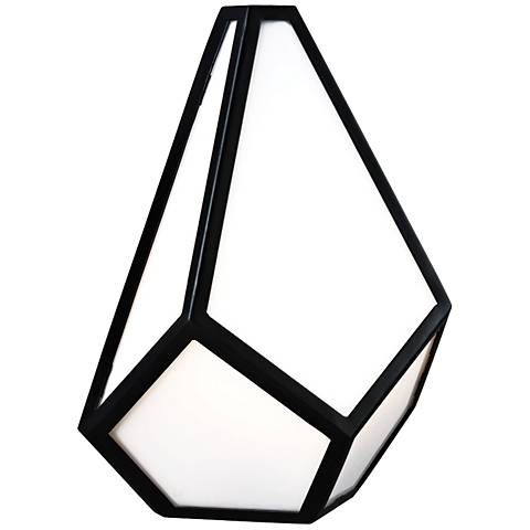 "Feiss Diamond 12"" High Black Wall Sconce"
