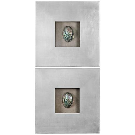 Wall Art Lamps Plus : Uttermost Abalone Shells 20
