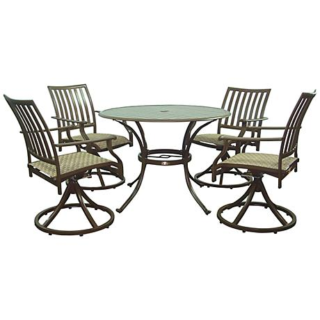 Panama Jack Island Breeze 5-Piece Patio Swivel Dining Set