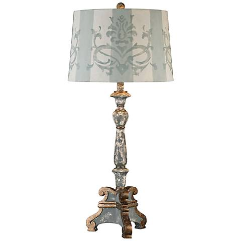 Uttermost Trimonte Aged Gray Candlestick Table Lamp