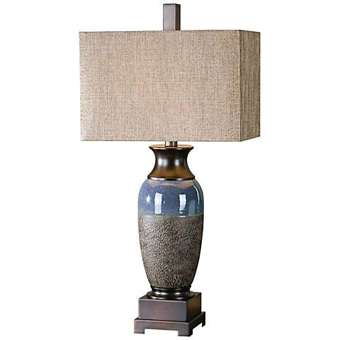 Uttermost Antonito Textured Ceramic Urn Table Lamp