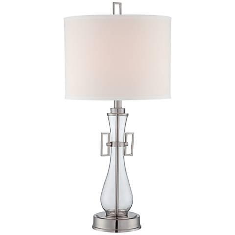 Lite Source Dyani Clear Glass Table Lamp