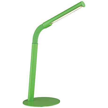 Lite Source Biagio Light Green Gooseneck LED Desk Lamp