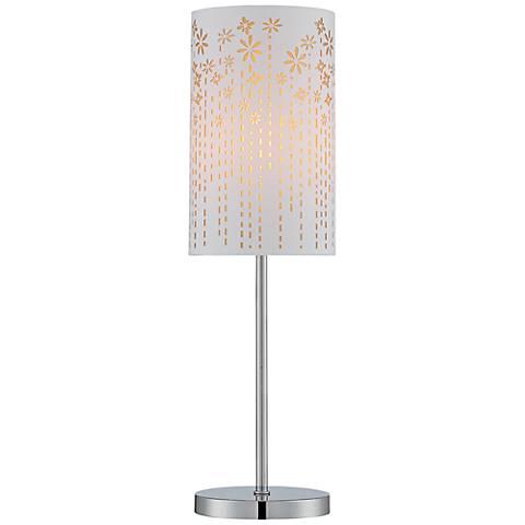 Lite Source Poppy Chrome Laser-Cut Gold Table Lamp