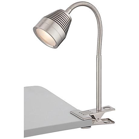 Lite Source Nobu LED Steel Gooseneck Clip-On Desk Lamp