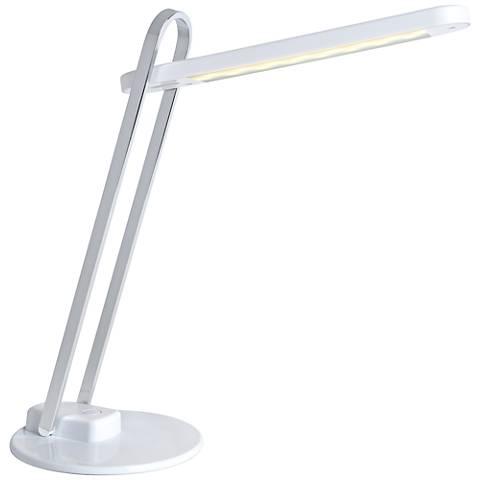 Lite Source Java LED Desk Lamp in White