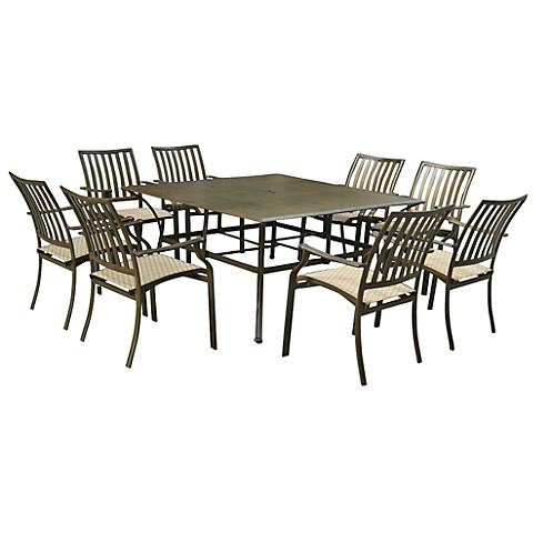 Panama Jack Island Breeze 9-Piece Patio Square Dining Set