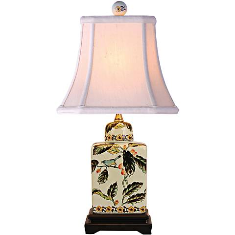 "Mariana Multicolor 18"" High Porcelain Jar Accent Table Lamp"