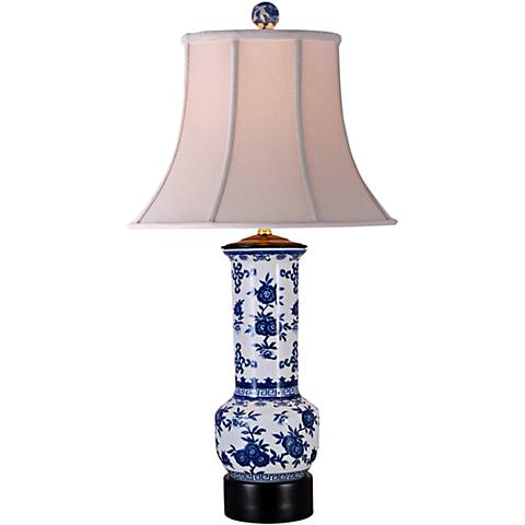 Rosalind Blue and White Porcelain Vase Table Lamp