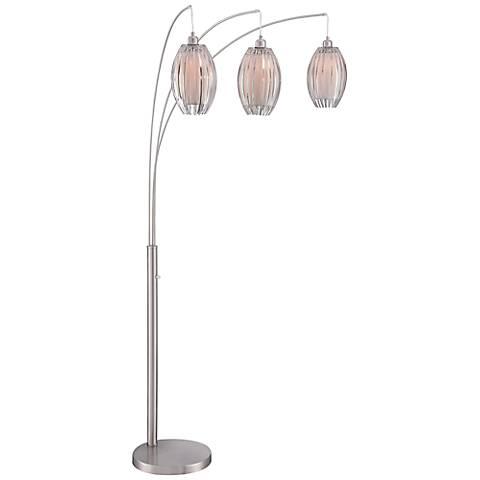 Lite Source Lotuz Chrome 3-Light Arc Floor Lamp