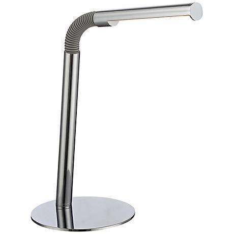 Lite Source Biagio LED Chrome Gooseneck Desk Lamp