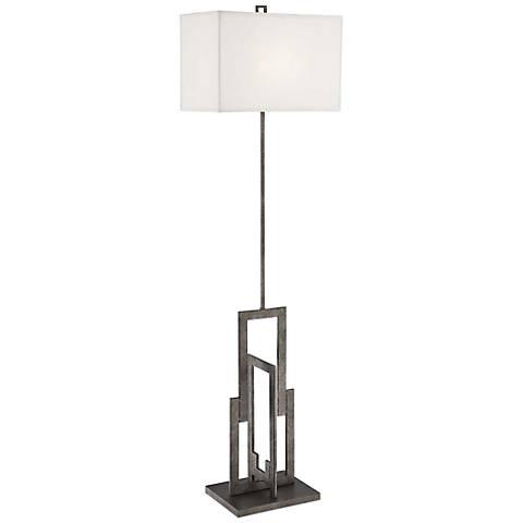 Lite Source Mireya Antique Silver Floor Lamp