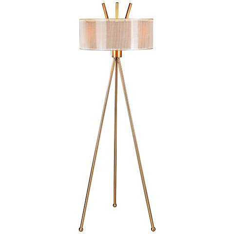 Uttermost Karita Coffee Bronze Tripod Floor Lamp
