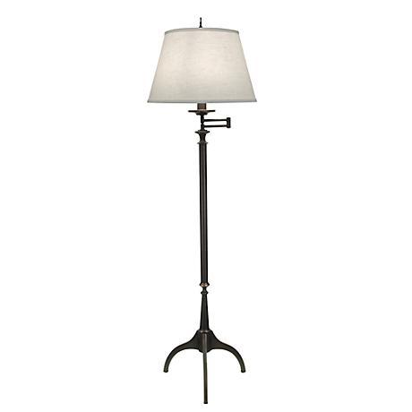 Wittrock Tripod Oxidized Bronze Swing-Arm Floor Lamp