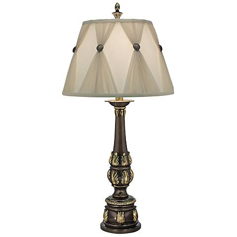 Eden Roman Bronze Table Lamp