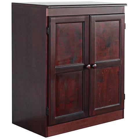 Hunkel Cherry 2-Shelf Storage Cabinet