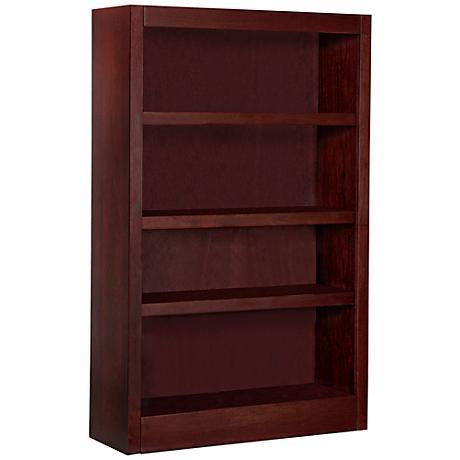Grundy Cherry Single-Wide 4-Shelf Bookcase