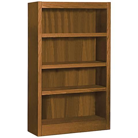 Grundy Dry Oak Single-Wide 4-Shelf Bookcase