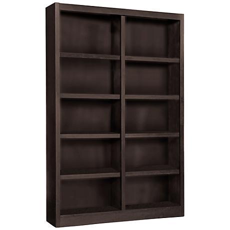 Grundy Espresso Double-Wide 10-Shelf Bookcase