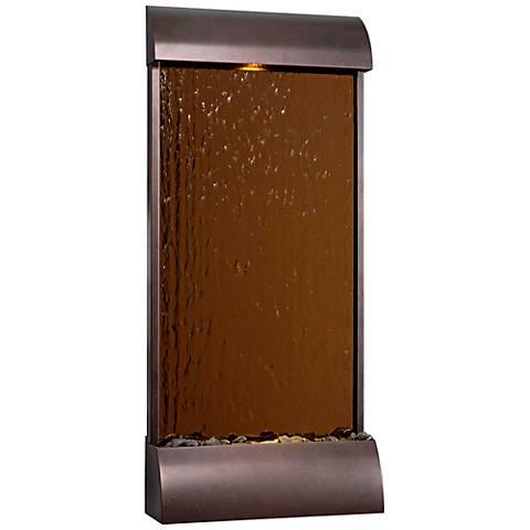 "Kenroy Home Aspen Copper Mirror 42"" High Floor Fountain"