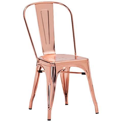 Zuo Elio Modern Rose Gold Dining Chair