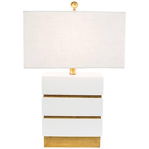Couture San Simeon Gloss White Table Lamp