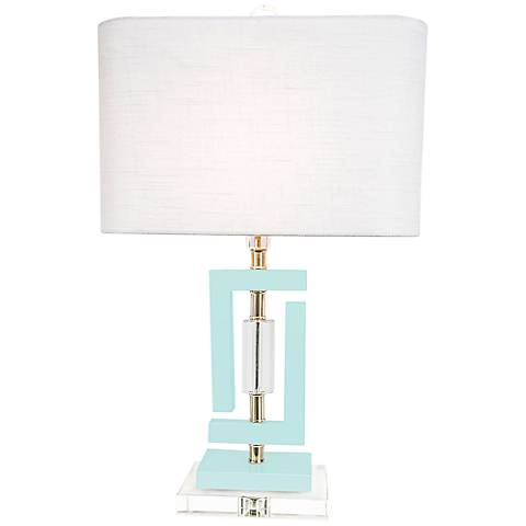 Couture Carlsbad Pale Blue Accent Table Lamp