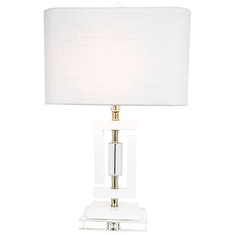 Couture Carlsbad White Accent Table Lamp