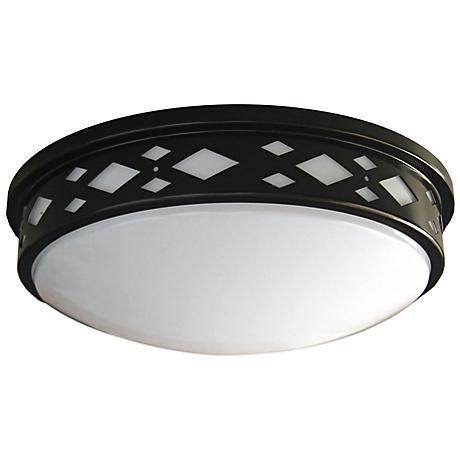 "Fitzgerald 14""W Bronze Diamond LED Ceiling Light"
