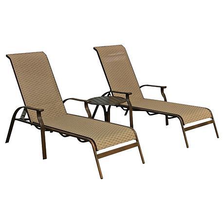 Panama Jack Island Breeze 3-Piece Patio Chaise Lounge Set