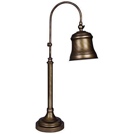 Modena Caldonia Gold Metal Desk Lamp