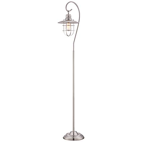 Lite Source Lanterna II Polished Steel Floor Lamp