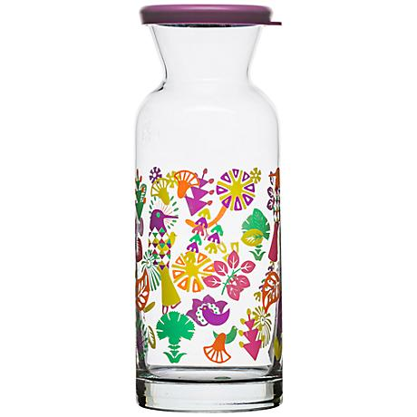 Fantasy Multi-Color Glass Carafe with Lid
