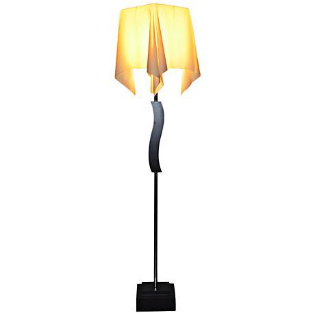 Allesta Floor Lamp with Ivory Drape Shade