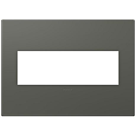 adorne® Soft Touch Moss Gray3-Gang Wall Plate