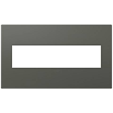 adorne® Soft Touch Moss Gray4-Gang Wall Plate
