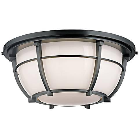 "Hudson Valley Conrad 15 3/4"" Wide Aged Zinc Ceiling Light"