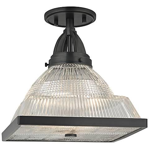 """Harriman 11 1/4"""" Wide Old Bronze Ceiling Light"""