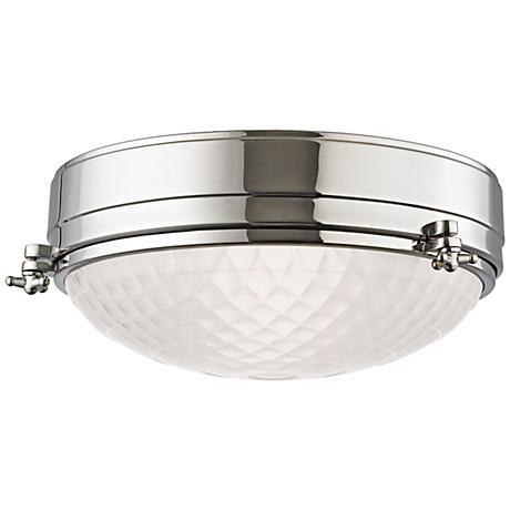 "Hudson Valley Belmont 13""W Polished Nickel Ceiling Light"