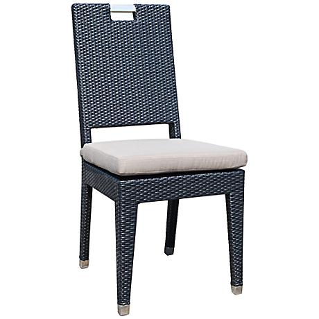 Dann Foley Beverly Chocolate Wicker Outdoor Dining Chair