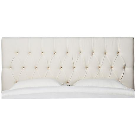 Jennifer Taylor Maya Cream Tufted Headboard