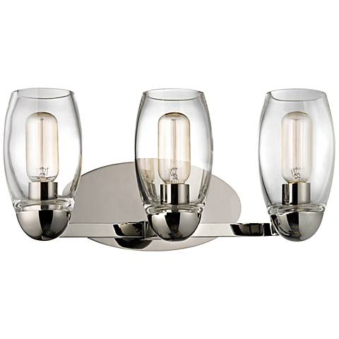 "Hudson Valley Pamelia 19 1/2""W Polished Nickel Bath Light"
