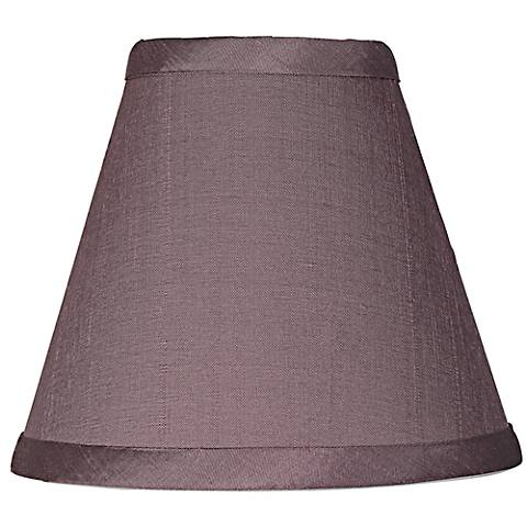 Lavender Purple Dusk Dupioni Silk Lamp Shade 3x6x5 (Clip-On)