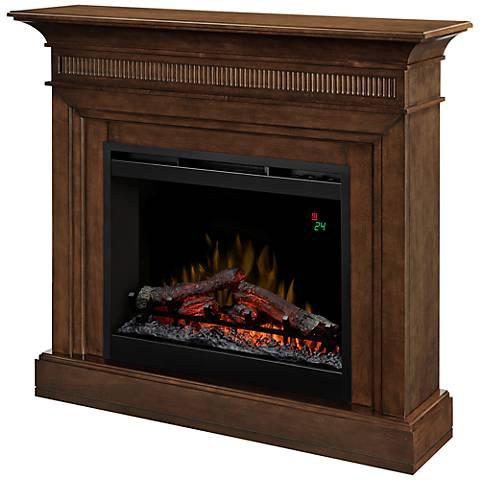 Harleigh Walnut Mantel Electric Fireplace
