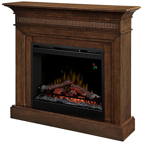 Harleigh Walnut Mantel Electric Fireplace