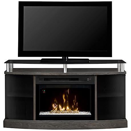 Windham Glass Front Media Console Fireplace