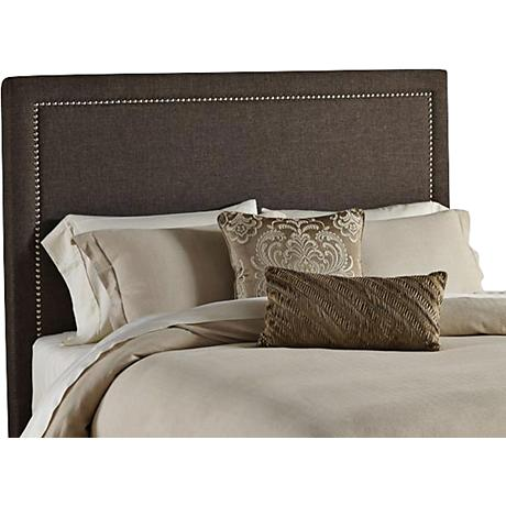 Zara Square Taupe Fabric Upholstered Headboard